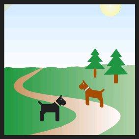 Spazierwege für/mit Hunden